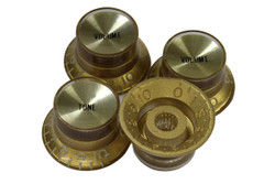 Gold reflector knobs with spun gold reflectors - Coarse spline