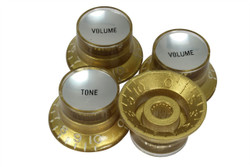 Reflector knobs - Gold with silver inserts - Coarse spline