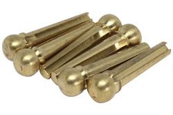 """Brass Acoustic Bridge Pins - .203"""" (5.15mm) - 3 degree taper"""