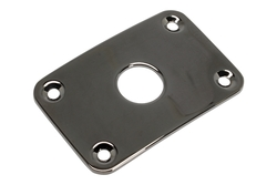 Curved Rectanglular Metal Jackplate for Gibson® Explorer - Black Chrome