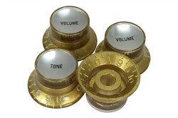 Reflector knobs - Gold with silver inserts - Fine spline