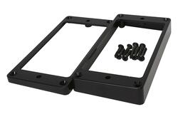 Plastic Mounting Rings for Flat Tops in Black