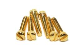 Humbucker P90 Fillister Pole Screws Gold plated Qty 6