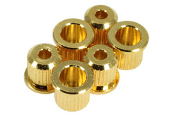 GOTOH TLB-1 guitar string ferrules for thru-body fixed bridges.  Gold