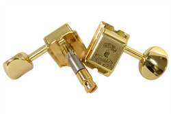 GOTOH SD91-H.A.P.M height adjustable locking guitar tuning machine.  Gold finish with gold knobs.