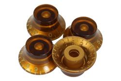 Amber vintage style bell hat knobs - US Fine spline