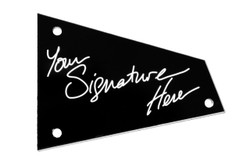 Engraved signature truss rod cover for Ibanez guitars with Access.