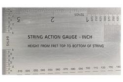 String Action Gauge Inch Ruler - Guitar setup tool