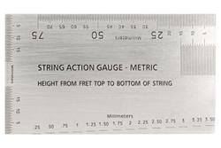 String Action Gauge METRIC Ruler - Guitar setup tool