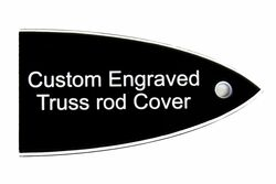 Custom engraved truss rod cover for ESP and LTD guitars