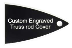 Custom engraved truss rod cover for Carvin guitars