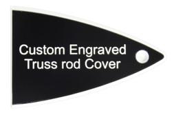 Custom engraved truss rod cover for Carvin guitars