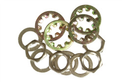 Metric M9 nut, washer, and locking washer for output jacks.  Nickel