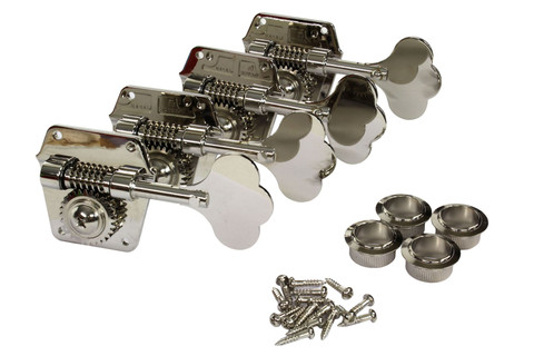 GOTOH 3196NS vintage style bass tuning machine with flat back plates