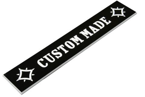 """CUSTOM MADE"" tailpiece plate"