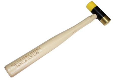 Brass and plastic head fretting hammer