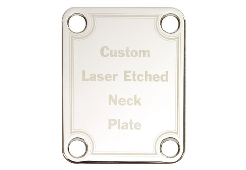 Custom Laser Etched Neck plate with  custom message