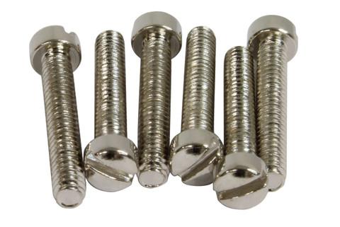 Vintage PAF Pole screws 1010 steel - Nickel