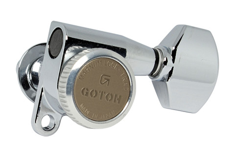 6L GOTOH SG381-07-MGT Locking Tuners w// Small Knobs Chrome