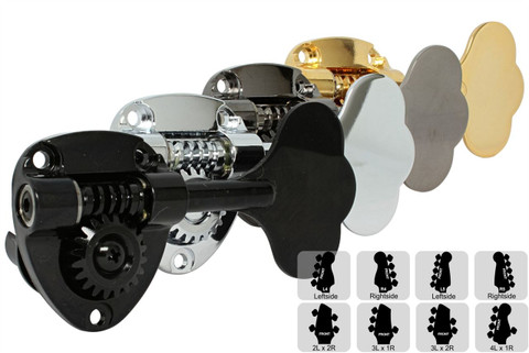 GOTOH GB11W Bass Tuning Machines Tuner - Preconfigured Sets