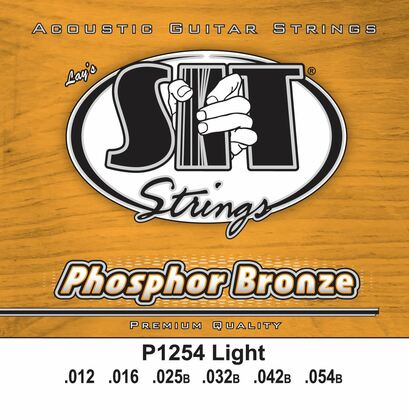 S.I.T. Strings P1254 - Phosphor Bronze Acoustic Strings Light (12-54)