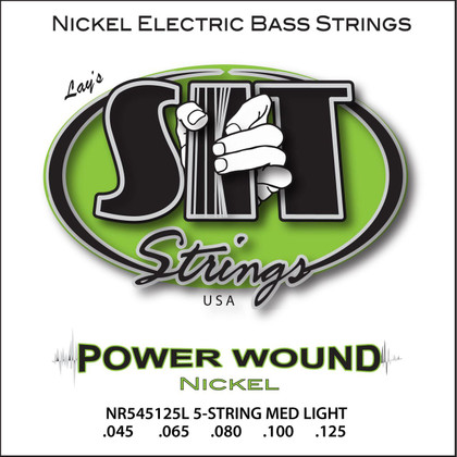 S.I.T. Strings NR545105L - Power Wound 5 String Bass Nickel Light (45-125)