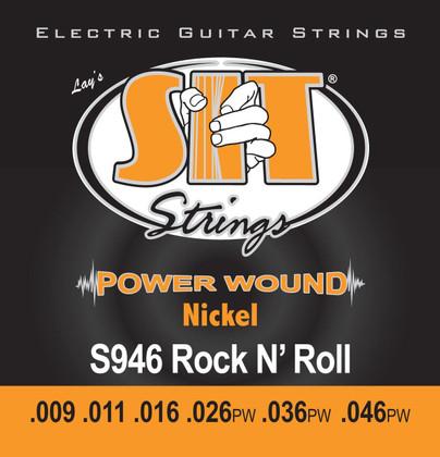 S.I.T. Strings S946 - Powerwound Nickel Electric Rock-n-Roll Hybrid (9-46)