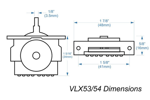 VLX54 High-quality import 3-way lever switch