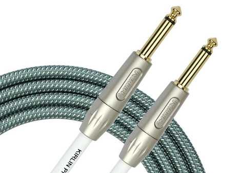 Kirlin IWB-201 PFG Woven Guitar Cable Straight - Olive