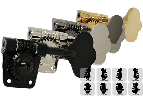 GOTOH GB528 Res-o-lite Bass Tuning Machines  Tuners - Preconfigured Sets