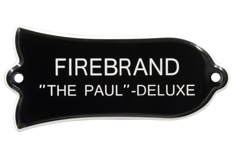 """Engraved """"FIREBRAND """"THE PAUL"""" - DELUXE"""" Truss Rod Cover for Gibson - 2ply B/W"""