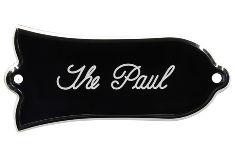 """Engraved """"The Paul"""" Truss Rod Cover for Gibson Guitars - 2ply B/W"""