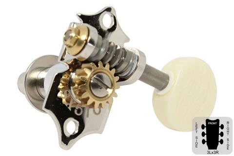 GOTOH SXN510V Open Back Tuning Machine - Screw in bushing - M5 Ivoriod knob - Nickel