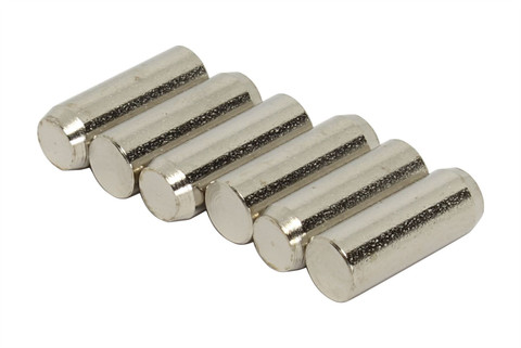 Humbucker Nickel Plated SUM22(1213/1215) Steel Pole Slugs w/ Heavy Chamfered End Qty 6
