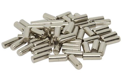 Humbucker Nickel Plated SUM22(1213/1215) Steel Pole Slugs w/ Heavy Chamfered End Qty 60