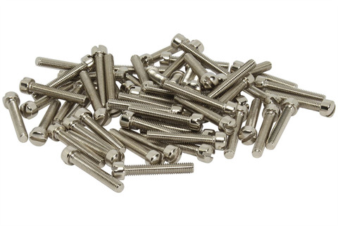 Humbucker P90 Metric M3 Fillister Pole Screws Nickel plated Qty 60