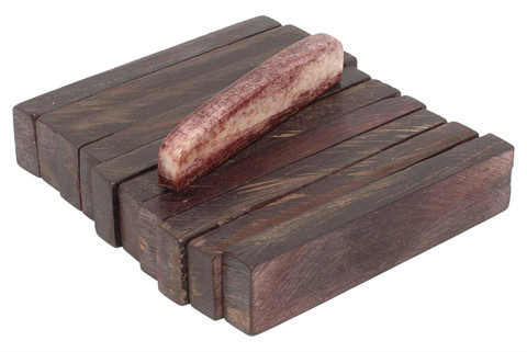 """Dyed Large Bone Nut Blanks Chocolate Brown - 2.22"""" x .47"""" x .25"""" - 10 pack"""