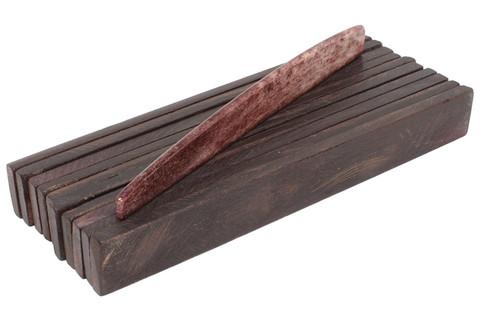 "Dyed Long Bone Saddle Blanks Chocolate Brown - 4.25"" x .5"" x .16"" - 10 pack"