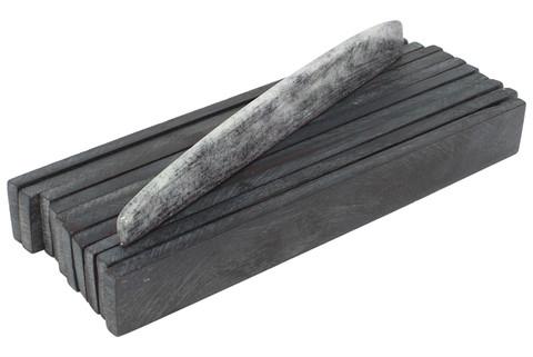 "Dyed Bone Saddle Blanks Tinted Granite - 3.5"" x .43"" x .14"" - 10 pack"