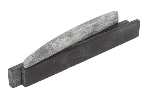 "Dyed Bone Saddle Blanks Tinted Granite - 3.5"" x .43"" x .14"" - 2 pack"