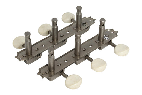 GOTOH 3SD05MA Vintage Deluxe 3-on-plate Nickel with white buttons