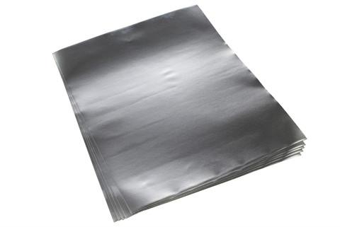 "Aluminum Foil Sheet w/ Conductive Adhesive Approx 12"" x 10"" - Qty 5"