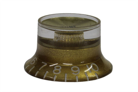 Bell Hat Knobs Gold with Gold Reflector US Set of 4