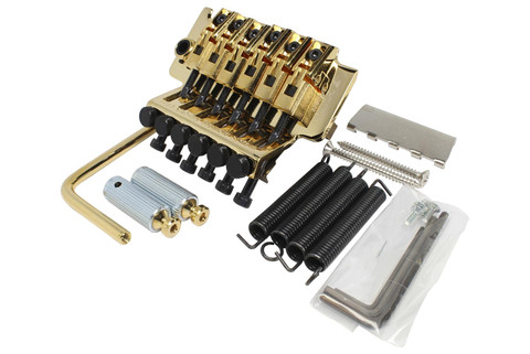 GOTOH GE-1996T Left Handed Floyd Rose locking tremolo bridge - Gold