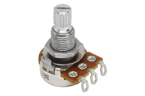 ALPHA Mini A500K Audio Split Shaft Metric Coarse Spline Potentiometer
