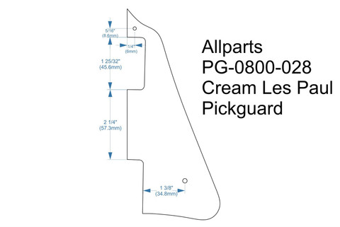 Pickguard 1 ply cream for Gibson® Les Paul (Allparts PG