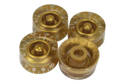 Gold vintage style speed knobs - US Fine spline