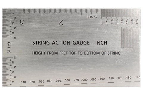 String Action Gauge Inch Ruler - Guitar setup tool