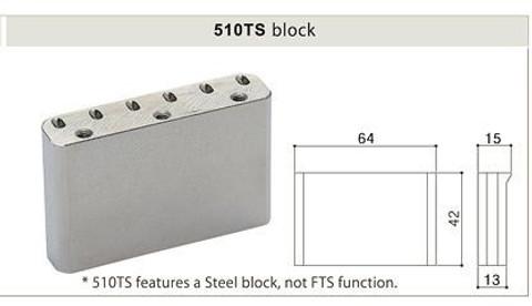 GOTOH EV510TS-BS Premium non-locking 2-Point Tremolo Bridge - Cosmo Black