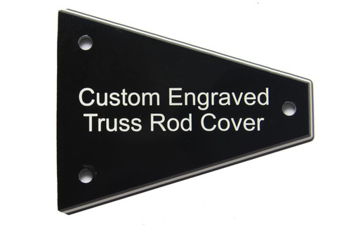 Custom engraved truss rod cover for Import Jackson guitars